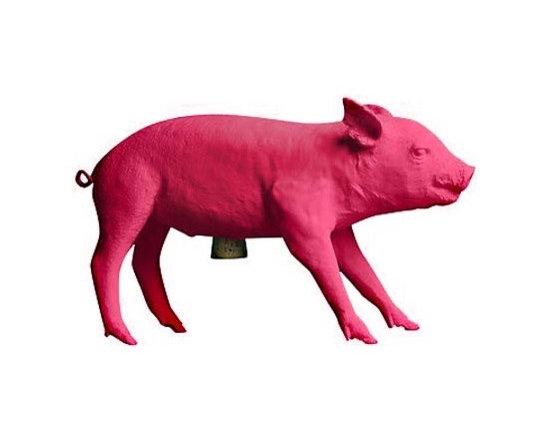 Hot Pink Pig Bank -