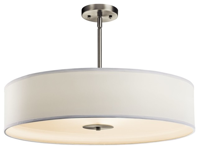 KICHLER 42122NI Crystal Persuasion 150W Transitional Inverted Pendant / Semi-Flu contemporary-ceiling-lighting