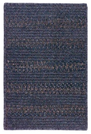Colonial Mills Elegance Indoor/Outdoor Braided Area Rug - Lapis Blue contemporary rugs