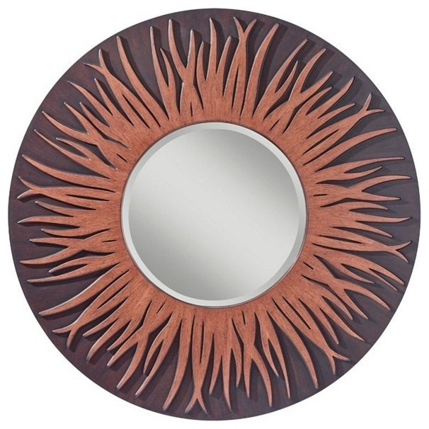 Two Tone Wood Mirror contemporary-mirrors