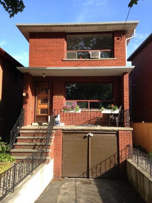 garage door color ideas for orangebrick house - Need help with garage door and exterior color with orange