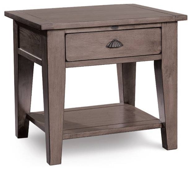 Coastal Solid Wood Side Table Beach Style Side Tables And End Tables New York By Zin Home