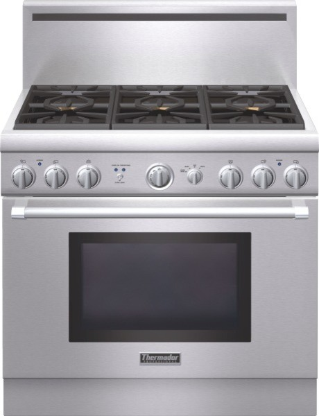 Thermador Professional Series 36 Inch Gas Standard depth