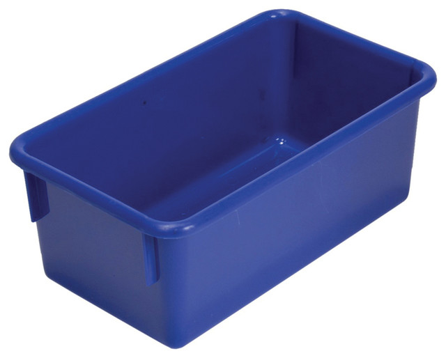 """Steffywood Home Plastic Storage Box Cabinet Tote Tray Blue 13""""L X 8""""W X 5""""H - Contemporary ..."""
