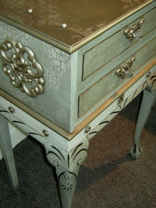 Hand Painted / Embellished Accent Table AVAIL. FOR SALE -