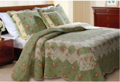 Greenland Home Fashions Bliss - 2 Piece Quilt Set - Twin - Sage modern-quilts-and-quilt-sets
