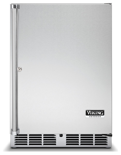 """Viking 24"""" Undercounter Refrigerator, Stainless Steel Right Hinge 