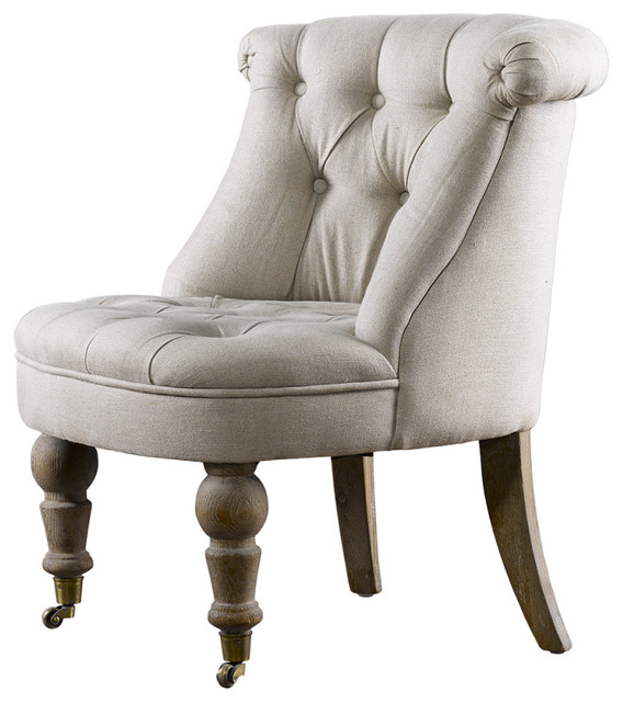 Amelie french country tufted accent chair eclectic Tufted accent chair