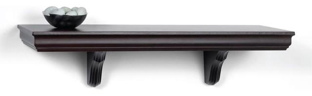 Decorative Wall Shelves Espresso : Espresso decorative wall mount shelf contemporary