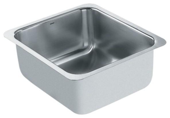 Moen S22351 Lancelot 18 Gauge Single Bowl Undermount Kitchen Sink In Stainless S Traditional