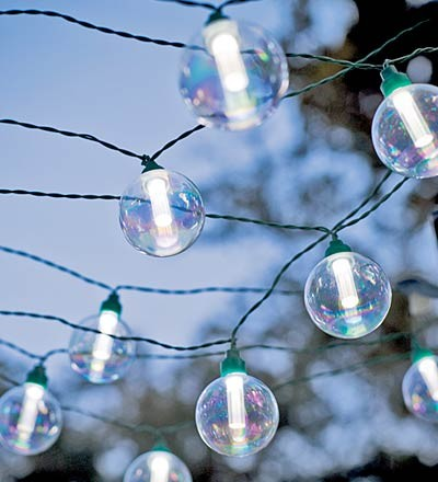 Globe Solar String Lights - eclectic - outdoor lighting - by Plow
