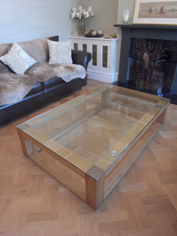 Bespoke oak and glass coffee table london eclectic coffee tables other metro by Bespoke glass furniture