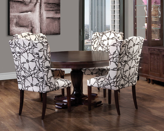 Upholstered Round Dining Set -