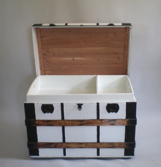 Vintage Steamer Trunk - Contemporary - Decorative Trunks - new york - by Green Zebre Vintage Home