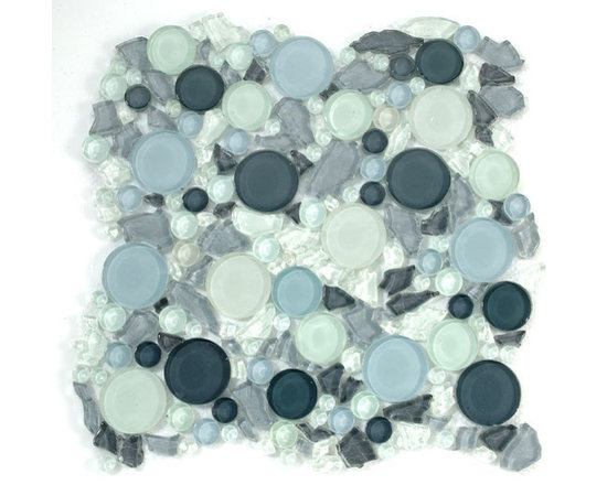 Lagoon glass tile by Mirage