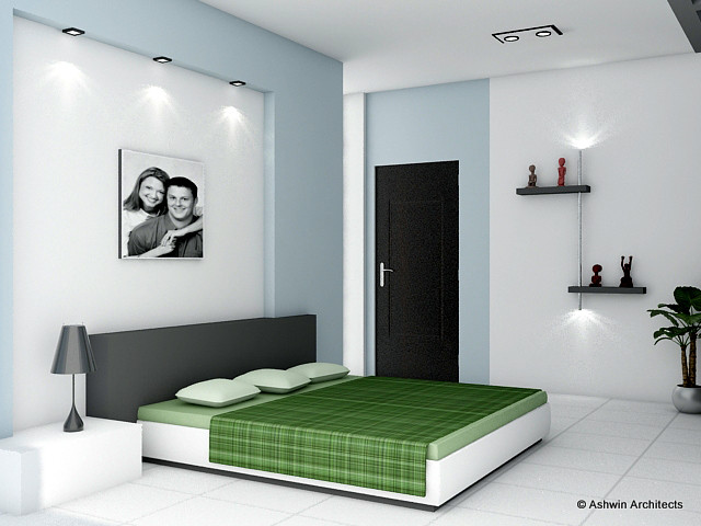 Sandhya 39 s bangalore apartment interior designs for 3d wallpaper for home in bangalore