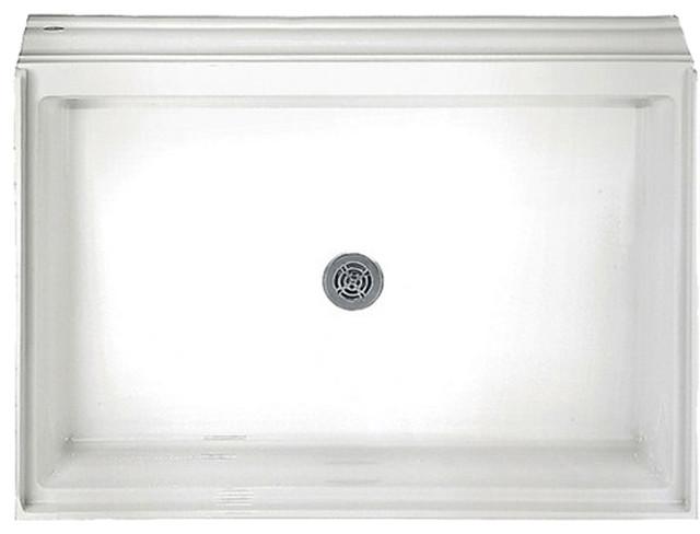 American Standard 6034.ST.020 Alcove Single Threshold Shower Base, White modern-shower-pans-and-bases