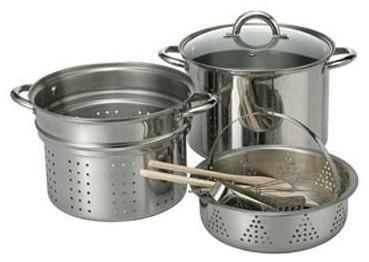 8-Piece Stainless Steel Pasta Pot Set contemporary-refrigerators