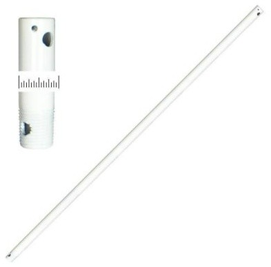 TroposAir 36 in. Extension Downrod Pure White 402 contemporary-ceiling-fans
