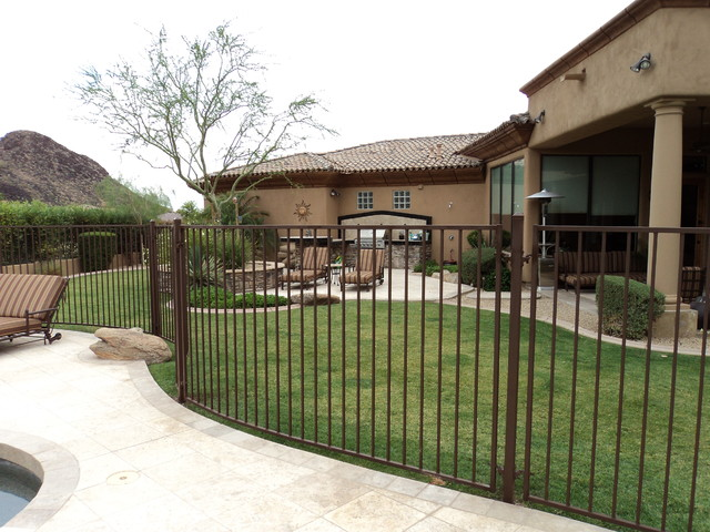 DCS Industries Residential Custom Wrought Iron Fencing contemporary-home-fencing-and-gates