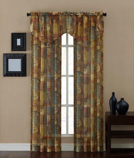 Tillary Printed Sheer Panel (84-inch) contemporary-curtains