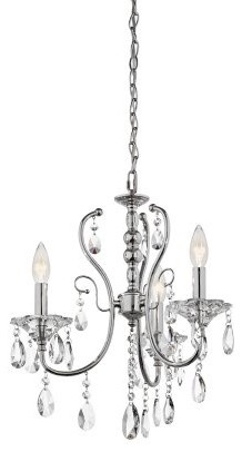 Kichler Jules 3 Light Mini Chandelier - 17W in. Chrome modern chandeliers