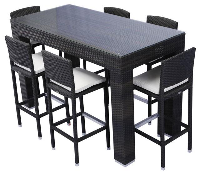 Source Outdoor Bar Height Patio Dining Set - Seats 6 ...
