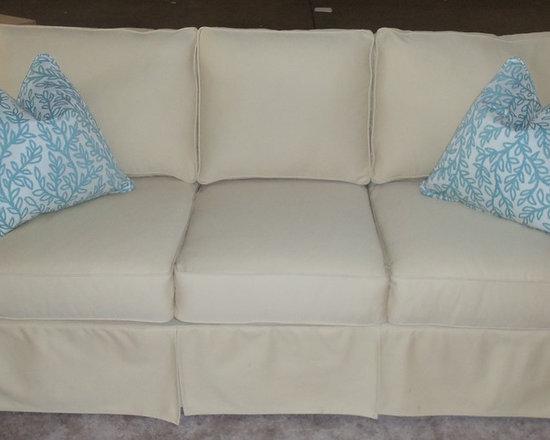 Customer Custom Orders - Rowe Nantucket Slipcover Sofa. You Choose the Fabric