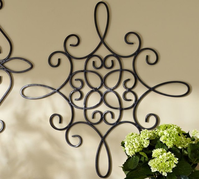 Wrought Iron Exterior Wall Decor Clairelevy Garden Idea