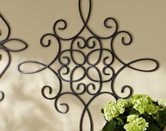 Iron Wall Medallion, Square contemporary outdoor decor