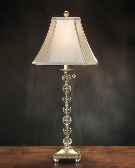 "John Richard 34""H Antique Gold Glass Ball Lamp contemporary-table-lamps"