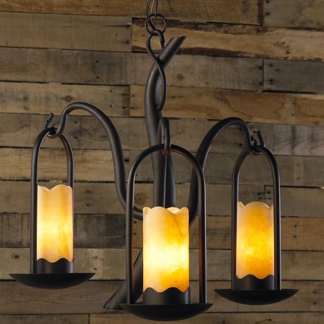 iron branches stone candle chandelier 3 lt chandeliers by shades of light. Black Bedroom Furniture Sets. Home Design Ideas