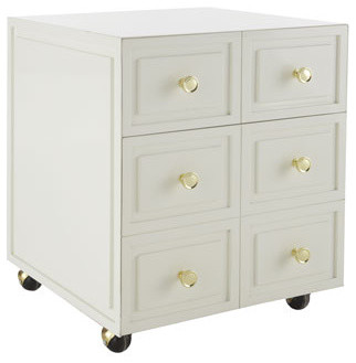 Lilly Pulitzer Home Aster Rolling Accent Chest traditional filing cabinets and carts