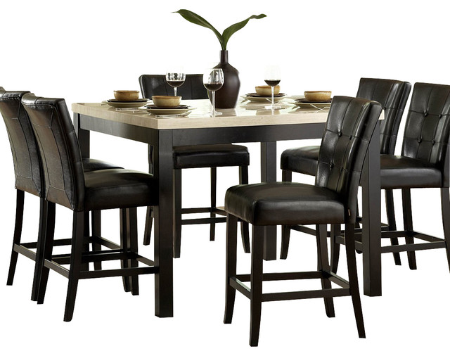 homelegance archstone 5 piece counter height dining room ForTraditional Black Dining Room Sets