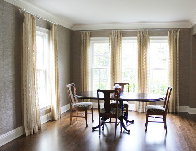 Custom Window Treatments By Lynn Chalk Modern Dining