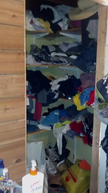 Closet  Organizing - Before contemporary