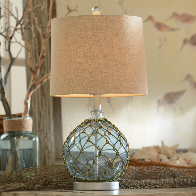 Blue Glass Table Lamp Beach Style Lamps