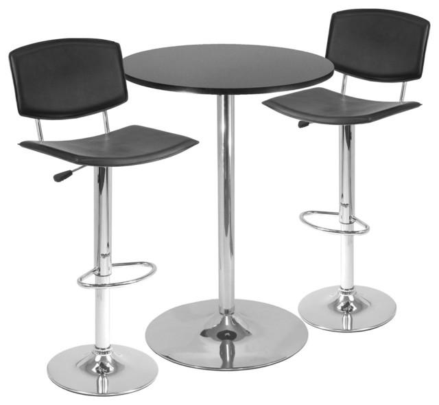 Spectrum 3 Piece Pub Table Set 28 Quot Round Table With 2