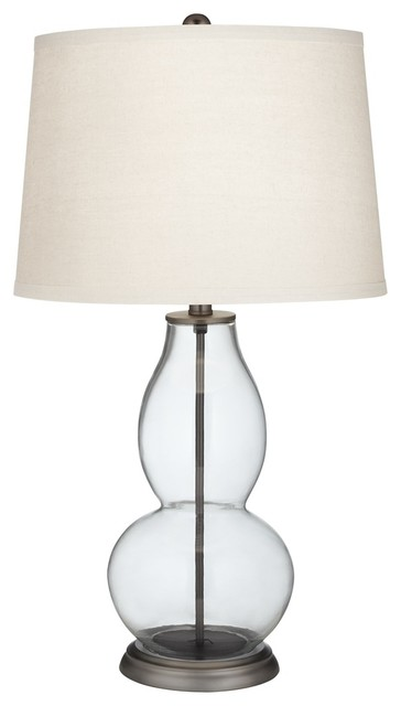 fillable clear glass double gourd table lamp. Black Bedroom Furniture Sets. Home Design Ideas