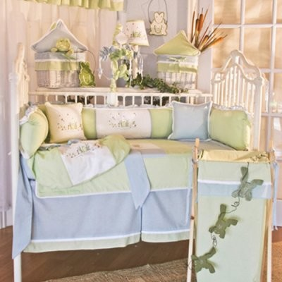 Brandee Danielle Sammy Frog 4 Piece Crib Bedding Set modern-cribs