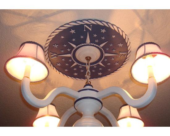 Ceiling Medallion, Compass Design by Marie Ricci -