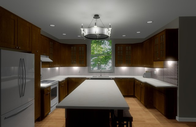 Ikea kitchen designs using Chief Architect X5 contemporary-rendering