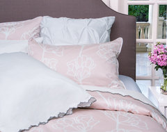 Floral Print Duvet Cover, The Mariposa Pink modern-duvet-covers