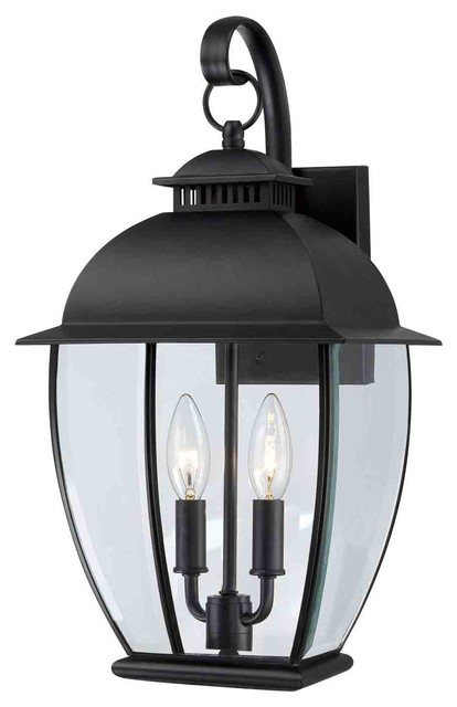 Quoizel BAN8409K Bain Mystic Black Outdoor Wall Sconce Farmhouse Outdoor