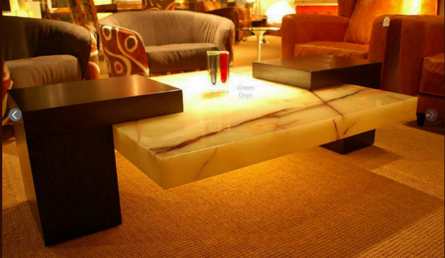 Green Onyx Coffee Table Modern Coffee Tables Other