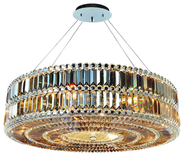 """Allegri 11742-010-FR001 Luxor 32""""D Round Pendant with Clear Firenze transitional-pendant-lighting"""