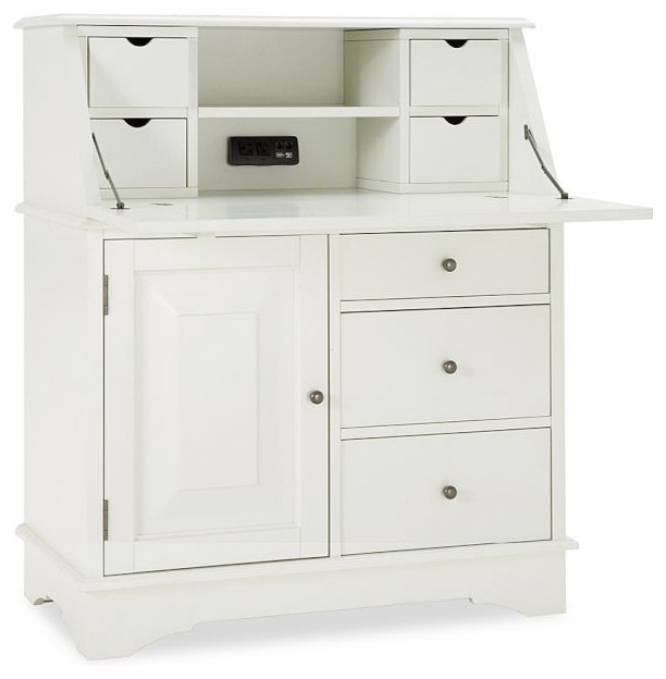 Graham Smart Technology Secretary, Antique White - Contemporary - Desks And Hutches - by Pottery ...
