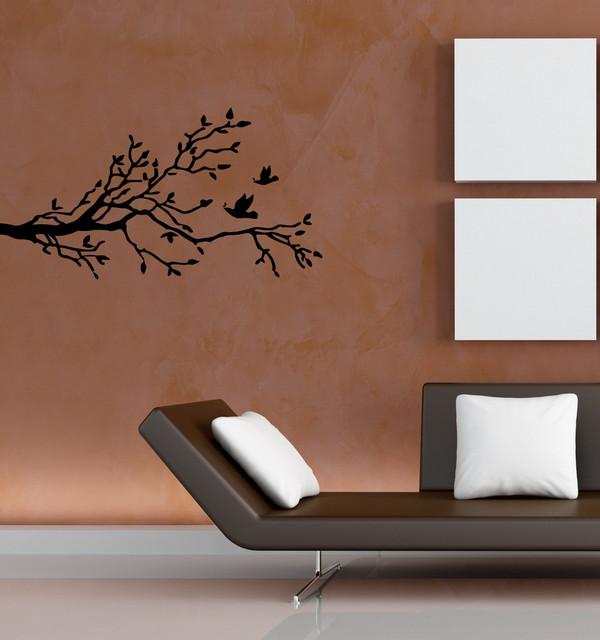 Wall Vinyl Sticker Decals Art Mural Tree Branch with birds OS234 decals