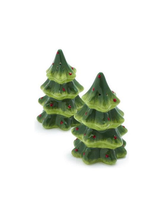 Holiday Tree Salt & Pepper Shakers -