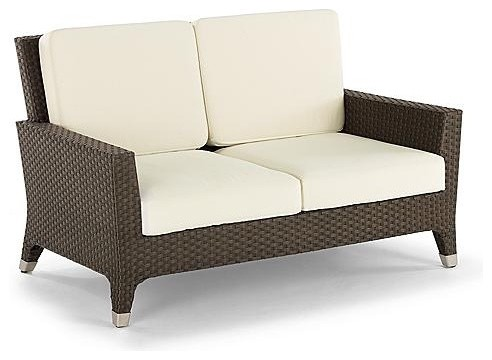 Solstice Loveseat with Cushions - Frontgate contemporary-outdoor-sofas
